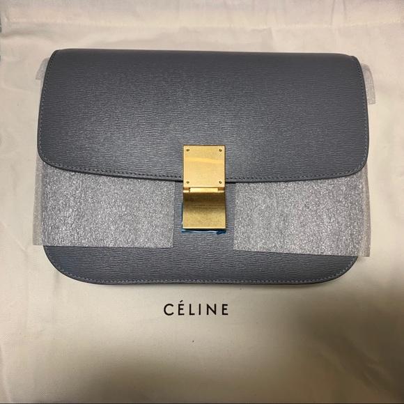 ecec35a44aaf New Céline medium grey-blue box bag
